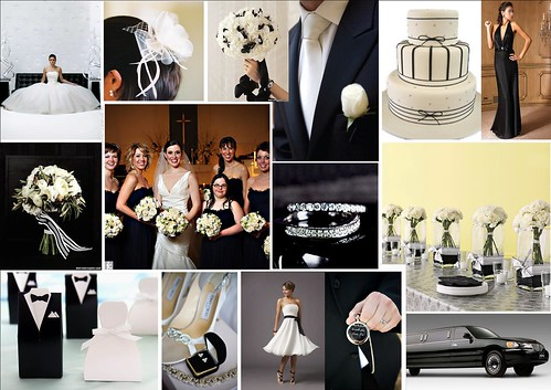 Black & White Tuxedo Wedding Theme por One White Dress.