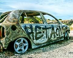 Burned (BOSSoNe0013) Tags: car rust tag gimp graph voiture thegimp wreckage hdr burned rouille 3xp pave brule tonemap qtpfsgui