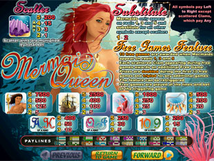 welcome bonus Mermaid Queen slot game