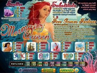 welcome bonus Mermaid Queen slot game