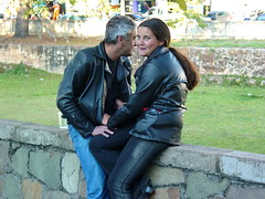 Leather-jacketed Couple in Sao Joao del Rei - Brazil (Adam Jones, Ph.D. - Global Photo Archive) Tags: brazil love friendship photojournalism couples romance bikers sharealike imagebank leatherjackets saojoaodelrei adamjones freeimages adamjonesfreeserverscom creativecommons20