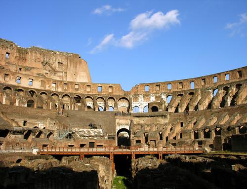 Walls, arena floor, and hypogeum