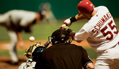 Skip Schumaker (Mark Halski) Tags: baseball stlouis catcher skip 55 pitcher pitching cardinals mlb umpire hitting schumaker playlikeacardinal