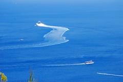 what the ferry boat left behind... (venetia koussia) Tags: blue seagulls swimming sundown geranium rockybeach sandybeach sporades skiathosisland summeringreece  greekfona