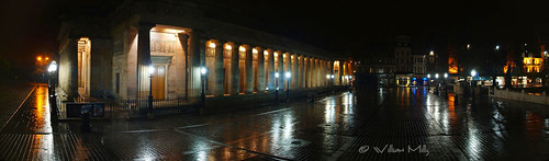 Edinburgh National Gallery at Night - Panoramic