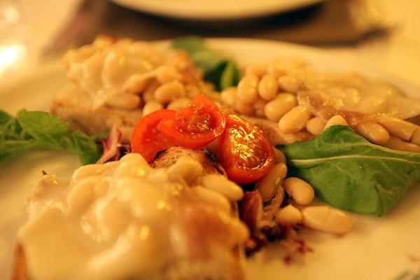 beans and lardo