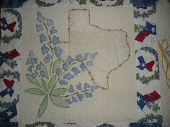 Detail from My First Texas Quilt