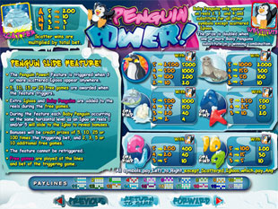 Penguin Power game payouts