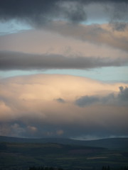 Evening clouds over the Wicklow Hills