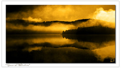 Sunrise Reflection (Pierre Contant) Tags: wood mist ontario canada tourism clouds forest photoshop river nikon quebec pierre rivire ottawariver abitibi d300 cs4 temiscaming tmiscamingue contant omot cans2s sunrisereflection forestery hwy63 abitibitmistamingue pierrecontant localsknow