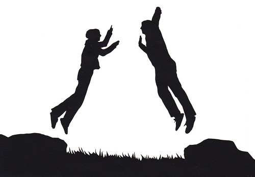 couple kissing silhouette image. couple jump silhouette