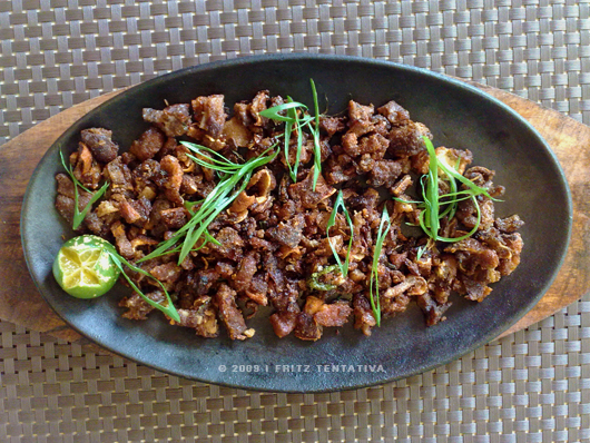 Sisig from Pepper & Peppers in Davao City