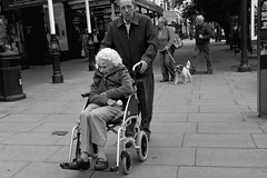 Chill Wind (the underlord) Tags: cold candid wheelchair windy elderly southport lordstreet x100 mereyside fujifilmfinepixx100