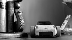 The only car I own.... (DeeMac) Tags: blackandwhite toycar woodencar automoblox leicax1