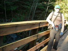 "Stupid Behemoth Bridge.  6'4"" hiker for scale"