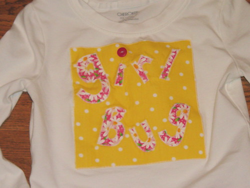 Applique tee
