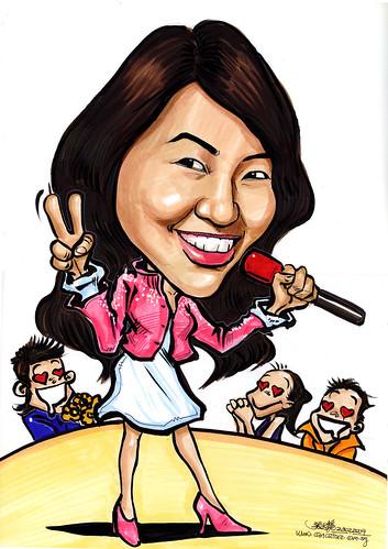 Caricature of a Singer Tay Ke Wei A4