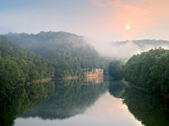 View from lower Clay's Ferry Bridge in Madison County (peachesandolivia (4 years and counting!)) Tags: sunrise river ourkentucky peachesandolivia