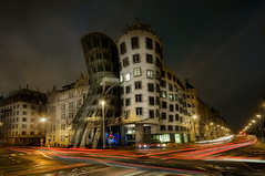 Streetracing... Dancing House - Tanc dm, Prague (Stevacek) Tags: longexposure motion cars night speed geotagged nikon traffic prague praha czechrepublic frankgehry nationalenederlanden d300 dancinghouse tancicidum eskrepublika tancdm vladomiluni ranovonbe visionqualitygroup rasinembankment latourquidanse geo:lat=5007551318686819 geo:lon=1441399838910881 gingerampampfred fredampampginger