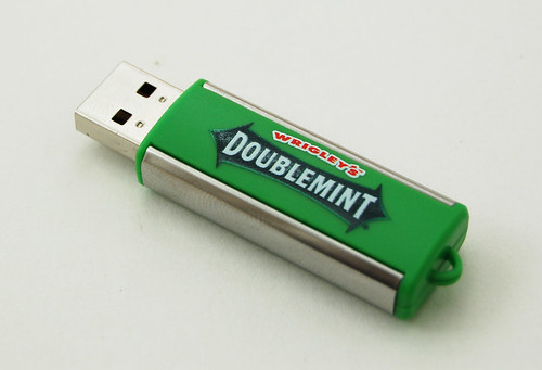 USB Flash drive in the guise of a pack of chewing gum