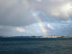 IMG_2333 (Lornette's Pics) Tags: ocean from sky clouds rainbow royal taken bermuda naval dockyard kingswarf