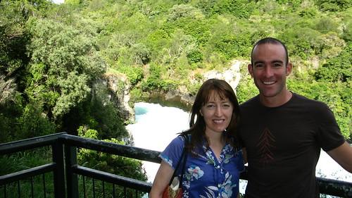 With Haidee near Huka Falls, Taupo, New Zealand