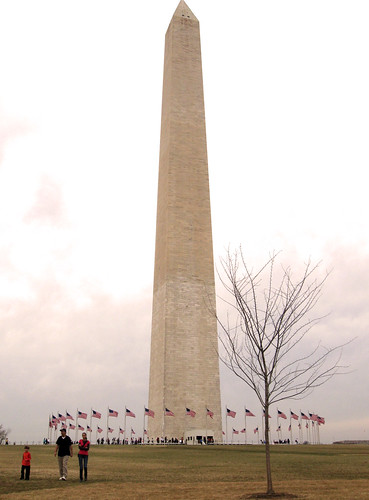 Wintery Washington Monument