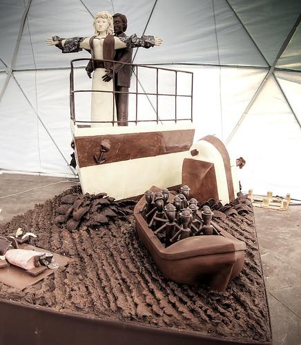 Chocolate sculpture: Chocolate Titanic