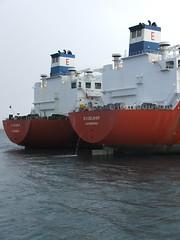 2007_0122hogmanyandtanker0022 (Kellydrever1) Tags: sea water orkney ship lpg scapaflow shiptoship