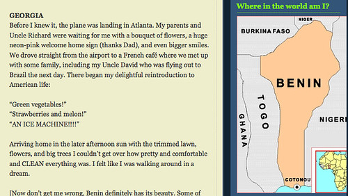 Screengrab from blog of murdered Peace Corps worker in Benin