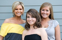 Two Sisters and a Friend (Daniel Bachhuber) Tags: family friends smiling oregon backyard posing patio tualatin formaldance madelinebachhuber maggiebachhuber horizonchristianschools allyschaeffer