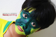 kid face painting27 (haslansalam) Tags: blue boy red brazil orange baby white black colour green art girl face yellow mouth nose facepainting football eyes adult artistic body soccer creative lips ear