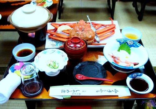 Crab dinner in Kinosaki