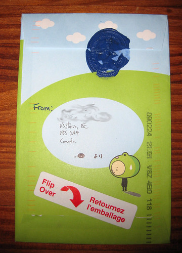 Rainy frog dude envelope with sealing wax