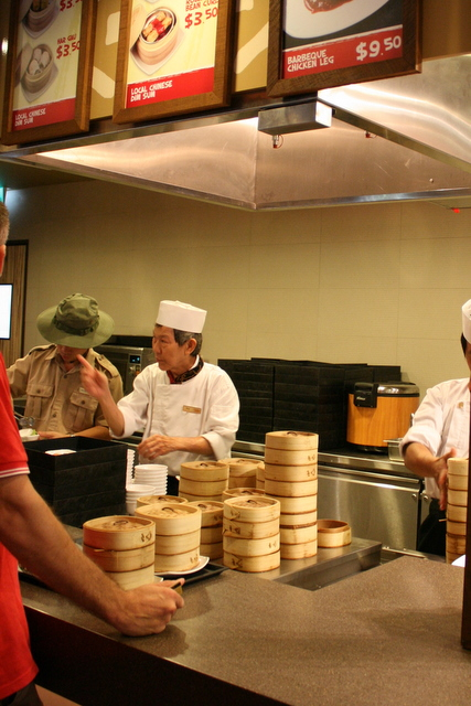 Self-service stations at Ah Meng Restaurant