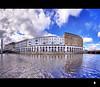 Alster Arcades, Hamburg HDR (schoebs) Tags: sky panorama water clouds canon eos pano hamburg sigma arcades 1020mm alster hdr arkaden 40d schoebs