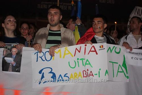 FOTO Miting la Bucuresti pentru sustinerea protestatarilor de la Chisinau 74