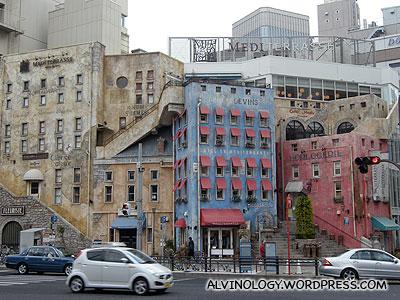 Interesting looking buildings which look like water colour paintings