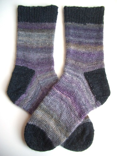 Black Purl socks-2