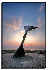 Spinning Fin (mliebenberg) Tags: sunset sculpture coast landscapes northwest sunsets promenade blackpool sculptures hdr fylde hdrphotography hdrphotos markliebenberg markliebenbergphotography