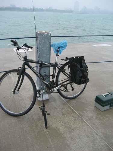 Bike, rod, reel and tackle box