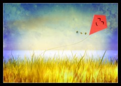 The Happy Kite (Alles Klaar) Tags: sky kite colour water grass colours secondlife textured windlight simplybeautiful realmagic slcollectionofmarvelousworks