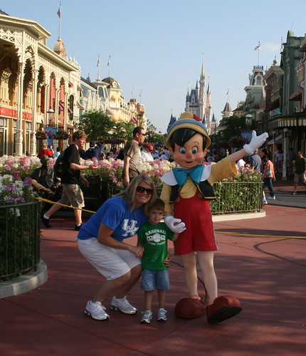 Mom, Zach, and Pinnochio