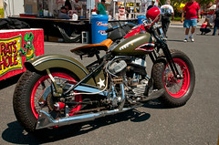 Rat Patrole (Lil Wally) Tags: red bike star teeth chrome motorcycle leesburg custom fest olivegreen ratpatrol ratshole