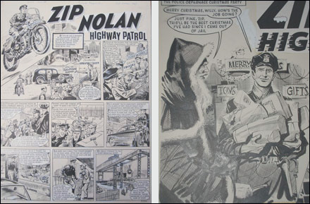 Original Zip Nolan artwork, 1963.