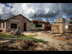 Car repair shop (Kaj Bjurman) Tags: houses beach car rain shop clouds eos sand village hurricane cuba repair 5d hdr kuba kaj mkii markii guardalavaca bjur