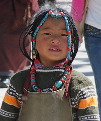 A beaded lass. (john a d willis) Tags: girl beads tibet lhasa potalapalace mywinners abigfave anawesomeshot impressedbeauty