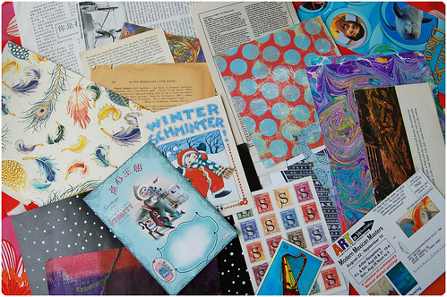 Collage papers from AnLiNa (Copyright Hanna Andersson)