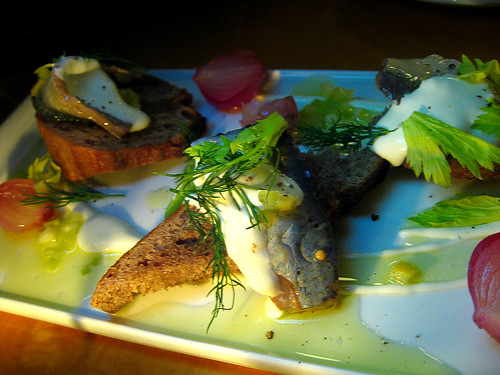 Pickled herring salad