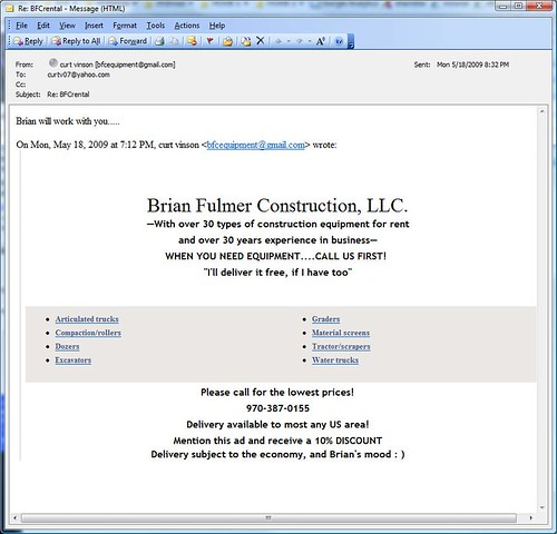Direct Email Marketing Gone Bad!